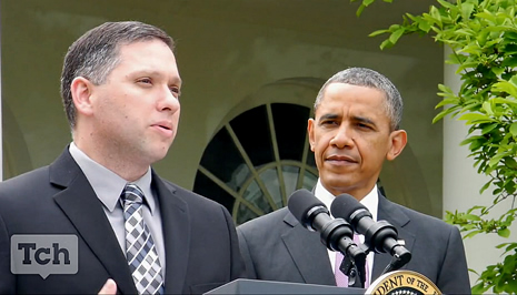 Jeff Charbonneau with President Obama
